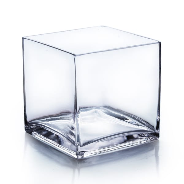 7 Inch Glass Cube Vase Free Shipping On Orders Over 45