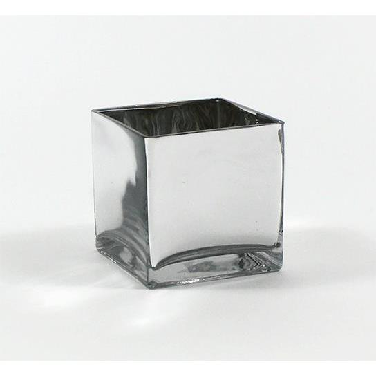 Shop 6 Inch Silver Cube Vase Free Shipping On Orders Over 45