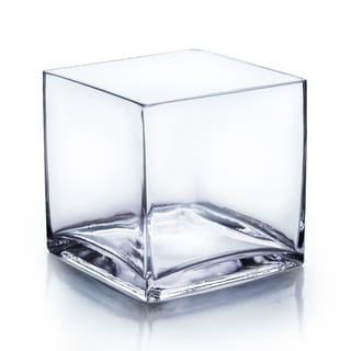 6-inch Clear Cube Vase