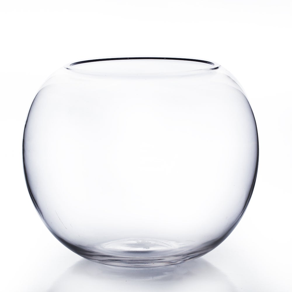 10-inch Bubble Fish Bowl (10), Clear (Glass)