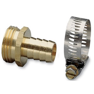 Nelson 50450 5/8-inch Brass & Worm Gear Clamp Male Hose Repair