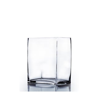 6-inch x 4-inch x 8-inch Clear Rectangle Block Vase