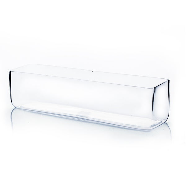 16-inch x 4-inch x 4-inchClear Rectangle Vase