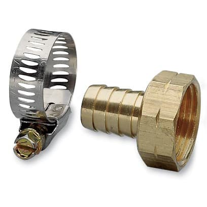 Nelson 50454 3/4-inch Brass & Worm Gear Clamp Female Hose Repair