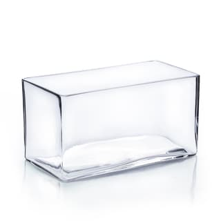 8-inch x 35-inch x 4-inch Clear Rectangle Vase