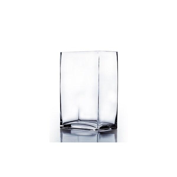 3-inch x 4-inch x 7-inch Clear Block Vase