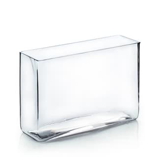 3-inch x 10-inch x 7-inch Clear Rectangular Vase