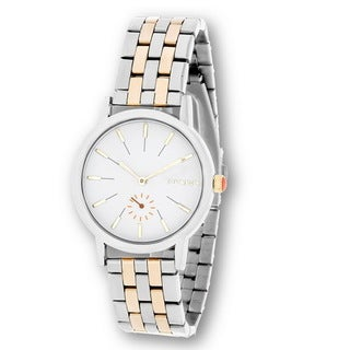 Steve Madden Silver Case with Silver and Gold Alloy Strap Watch
