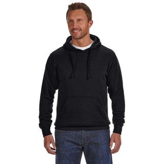 Cloud Men's Big and Tall Pullover Fleece Hood Black Sweatshirt