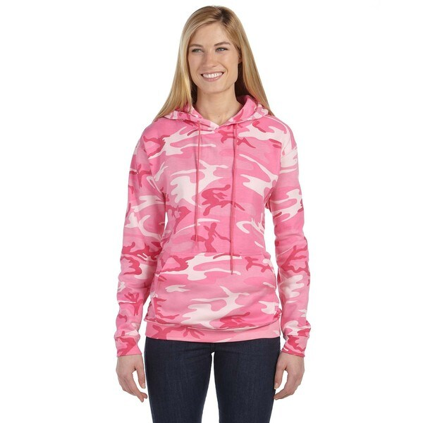 Camouflauge Mens Big and Tall Pink Woodland Pullover Hooded Sweatshirt
