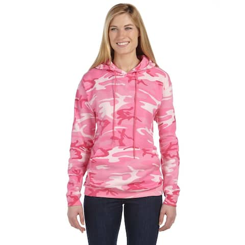 Camouflauge Men's Big and Tall Pink Woodland Pullover Hooded Sweatshirt