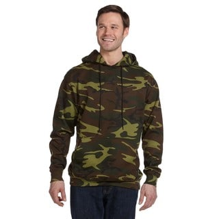 Camouflauge Men's Big and Tall Green Woodland Pullover Hooded Sweatshirt