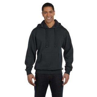 Men's Big and Tall Organic/Recycled Pullover Charcoal Hood
