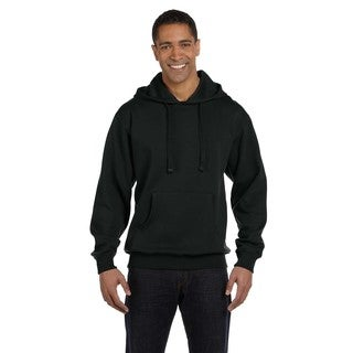 Men's Big and Tall Organic/Recycled Pullover Black Hood