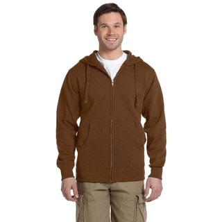 Men's Big and Tall Organic/Recycled Full-Zip Legacy Brown Hood