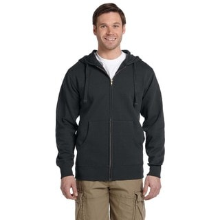 Men's Big and Tall Organic/Recycled Full-Zip Charcoal Hood