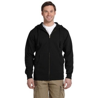 Men's Big and Tall Organic/Recycled Full-Zip Black Hood