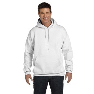 Men's Big and Tall Ultimate Cotton 90/10 Pullover White Hood