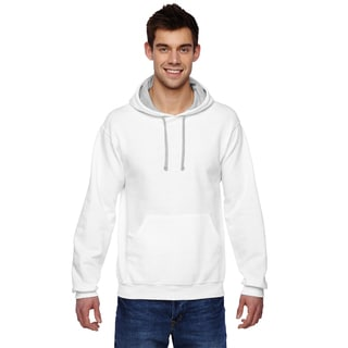Men's Big and Tall Sofspun White Hooded Sweatshirt