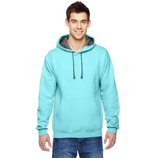Men's Big and Tall Sofspun Scuba Blue Hooded Sweatshirt