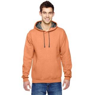 Men's Big and Tall Sofspun Orange Sherbet Hooded Sweatshirt