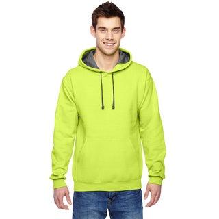 Men's Big and Tall Sofspun Citrus Green Hooded Sweatshirt