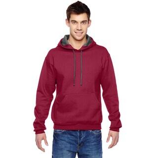 Men's Big and Tall Sofspun Cardinal Hooded Sweatshirt