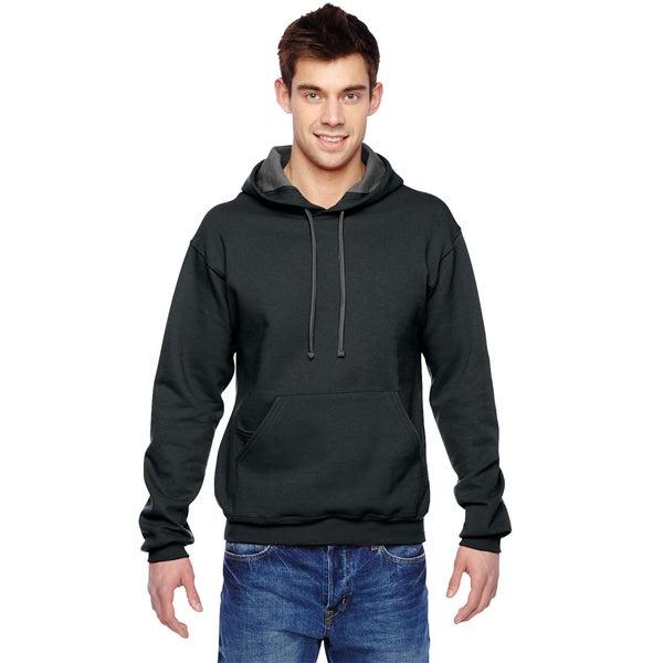 Men's Big and Tall Sofspun Black Hooded Sweatshirt