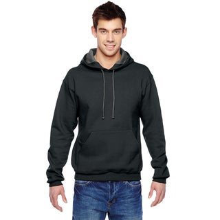 Men's Big and Tall Sofspun Black Hooded Sweatshirt