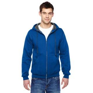 Men's Big and Tall Sofspun Full-Zip Royal Hooded Sweatshirt