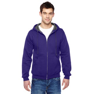 Men's Big and Tall Sofspun Full-Zip Hooded Purple Sweatshirt