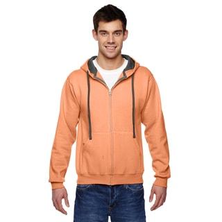 Men's Big and Tall Sofspun Full-Zip Hooded Orange Sherbet Sweatshirt