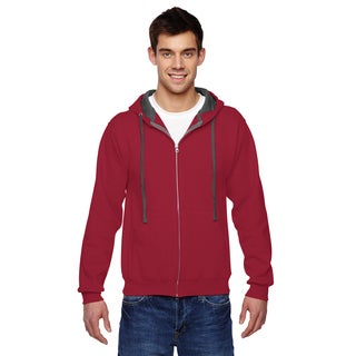 Men's Big and Tall Sofspun Full-Zip Hooded Cardinal Sweatshirt