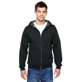 Men's Big and Tall Sofspun Full-Zip Hooded Black Sweatshirt