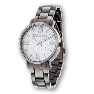 Steve Madden Silver Case Diamond Dial and Alloy Strap Watch