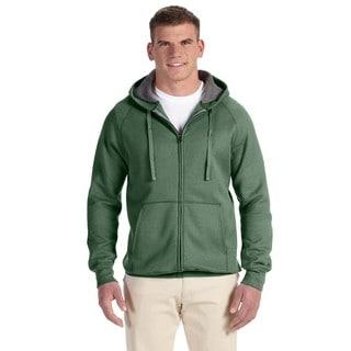 Men's Big and Tall Nano Full-Zip Vintage Green Hood