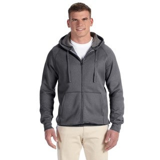 Men's Big and Tall Nano Full-Zip Charcoal Heather Hood