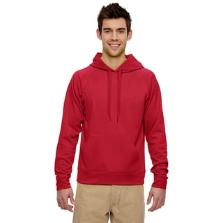 Men's Big and Tall Sport Tech Fleece Pullover True Red Hood