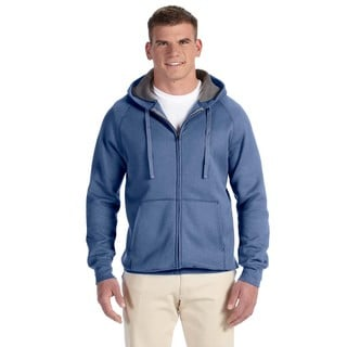 Men's Big and Tall Nano Full-Zip Vintage Denim Hood