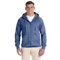 Men's Big and Tall Nano Full-Zip Vintage Denim Hood