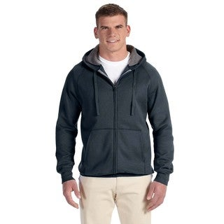 Men's Big and Tall Nano Full-Zip Vintage Black Hood