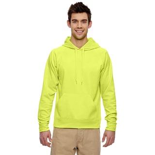 Men's Big and Tall Sport Tech Fleece Pullover Safety Green Hood