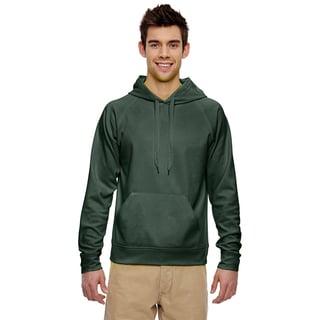 Men's Big and Tall Sport Tech Fleece Pullover Forest Green Hood