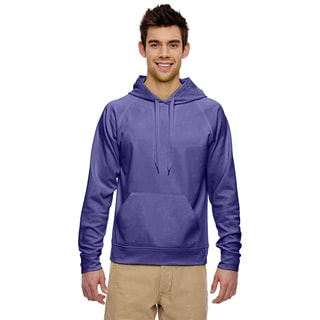 Men's Big and Tall Sport Tech Fleece Pullover Deep Purple Hood