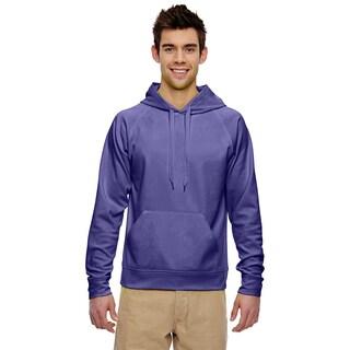 Men's Big and Tall Sport Tech Fleece Pullover Deep Purple Hood