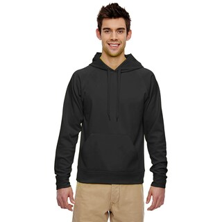 Men's Big and Tall Sport Tech Fleece Pullover Black Hood