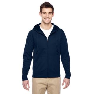 Men's Big and Tall Sport Tech Fleece Full-Zip J Navy Hood