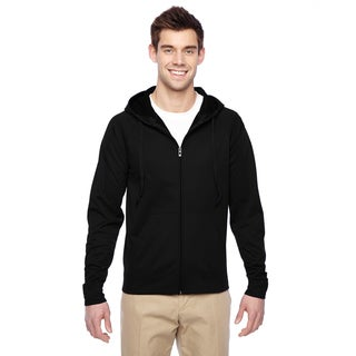 Men's Big and Tall Sport Tech Fleece Full-Zip Black Hood