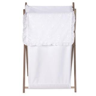Sweet Jojo Designs White Eyelet Collection Laundry Hamper