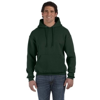 Men's Big and Tall Supercotton 70/30 Pullover Forest Green Hood